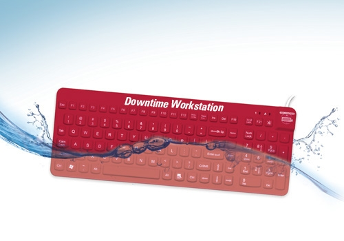 E-Cool Downtime Workstation waterproof keyboard and mouse by Man & Machine