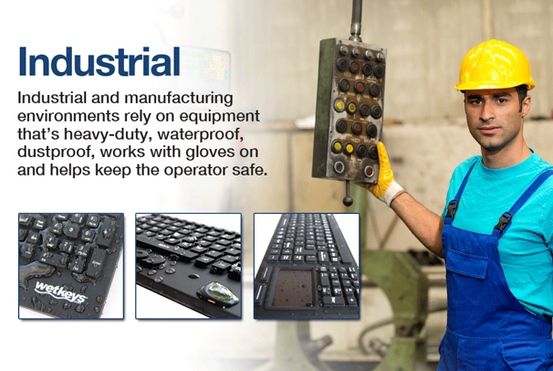 Durable and Waterproof Computer Keyboards and Mice for Industrial and Manufacturing Homepage
