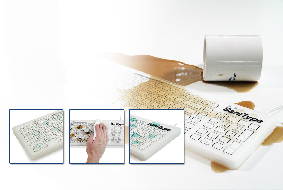Smooth Surface Keyboard for Medical and Dental