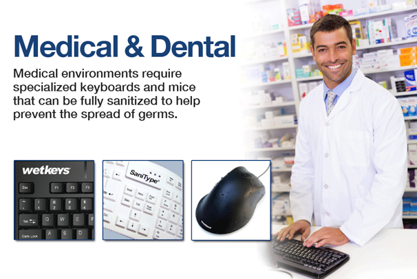 Waterproof and Washable Computer Keyboards and Mice for Dental and Medical Homepage