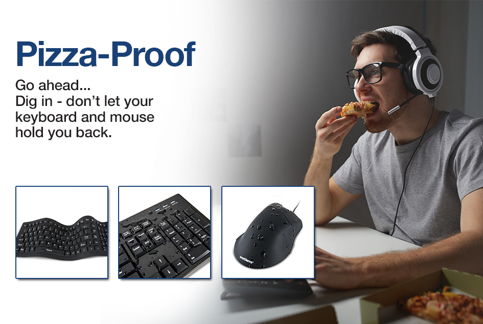 Don't let your keyboard or mouse hold you back from digging into your food or work