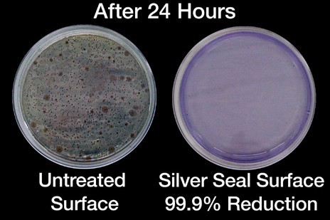 Silver Seal Antimicrobial Product Protection Showing Germ REduction