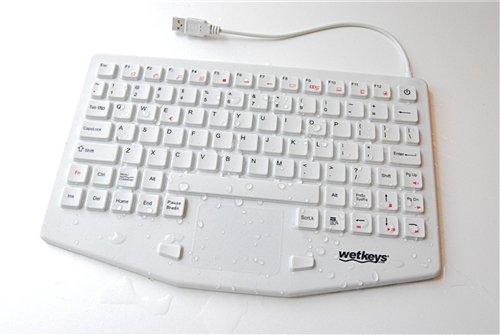 WetKeys Professional Grade Medical Washable Keyboard with Touchpad KBWKRC87T CG07